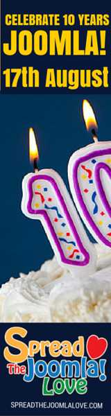 Celebrate Joomla 10th Birthday